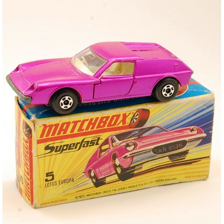 Lotus Europa Superfast 1969 - Matchbox - Série numéro 5