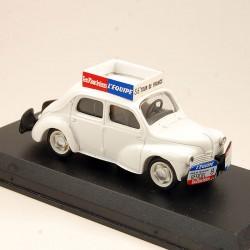 Renault 4 Cv Le Parisien - Nationale 7 Provence Moulage - 1/43ème