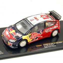 """Citroen C4 Wrc """"Red Bull"""" - Rallye Japon 2008 - Ixo - 1/43ème"""