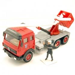 Mercedes Nacelle Pompiers - Solido - 1/50 ème En boite