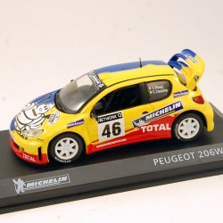 Rare ! Peugeot 206 WRC - Michelin 1/43eme