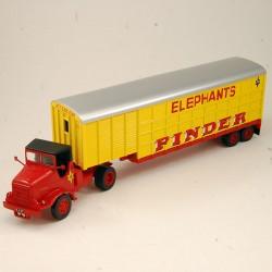 """Marmon Transport d'Eléphants """" Pinder """" - 1/64 ème Sous blister"""