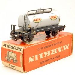 MARKLIN - Wagon Citerne Esso - en boite d'origine - HO - 1/87eme