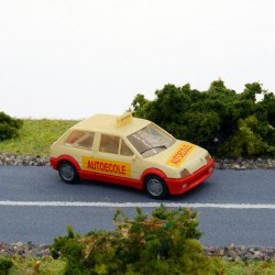 """Citroen AX """" Auto Ecole """" - Praliné - 1/87 ème En boite"""
