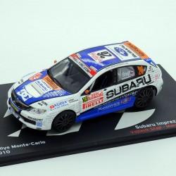Subaru Impreza WRX STI - Rallye Monte Carlo 2010 - 1/43 ème En boite