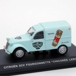 """Citroen 2cv Fourgonnette """" Chicorée Leroux """" - 1/43 ème En boite"""