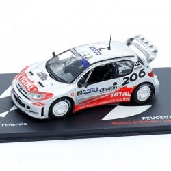 Peugeot 206 WRC - Rallye Finlande 2002 - 1/43ème en boite