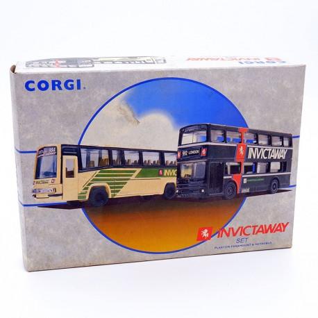"Coffret 2 Bus ""Invictaway"" - Corgi - 1/76ème en boite"