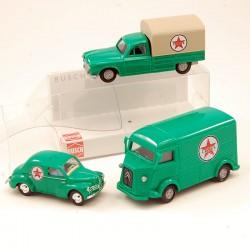 Ensemble 3 véhicules Texaco - Busch - 1/87ème