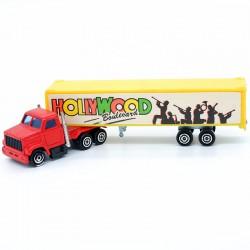 """Camion Remorque """" Hollywood Boulevard """" N°340 - Majorette - 1/100 ème Sans boite"""