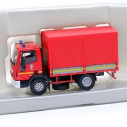 Camion de Pompier Iveco Eurocargo Baché - Solido - 1/60 ème En boite