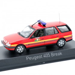 Peugeot 405 Break Pompier - Norev - 1/43 ème En boite