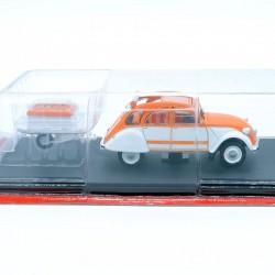 Citroen 2cv La Spot avec Remorque - 1/43 ème Sous blister