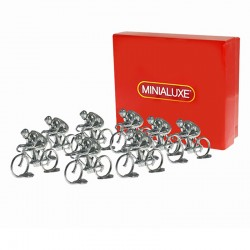 """Minialuxe """"Peloton de 9 Cyclistes"""" 1/43 en boite"""