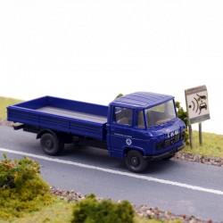 Camion Plateau Mercedes THW - Wiking - 1/87ème En boite