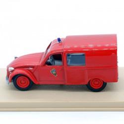 Citroen 2Cv Camionnette Pompier - Eligor - 1/43ème en boite