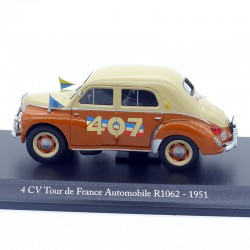 """Renault 4 Cv """" tour de France Automobile 1951 """" - 1/43ème sous blister"""
