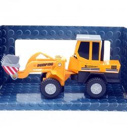 Tractopelle Dumping - Cararama - 1/43ème en boite