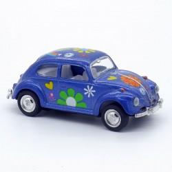 """Volkswagen Coccinelle - Motif """" Fleur """" - Kinsmart - 1/64ème Sans boite"""