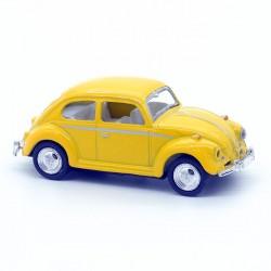 Volkswagen Coccinelle Jaune - Kinsmart - 1/64ème Sans boite