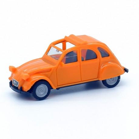 Citroen 2cv Orange 6L - Herpa - 1/87ème En boite