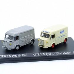 Duo de Citroen Type H - 1/87ème En boite