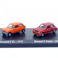 Duo de Renault 5 - 1/87ème En boite