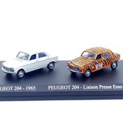 Duo de Peugeot 204 - 1/87ème En boite