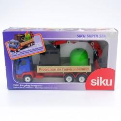 """Camion Porte-Containers """"Protection de l'environnement"""" - Siku - 1/55ème en boite"""