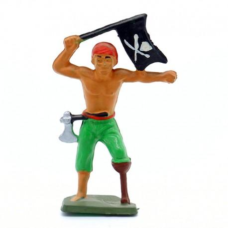 Pirate avec Drapeau - Starlux - En plastique