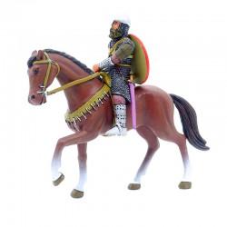 Cavalier sur son cheval - En plomb 7cm