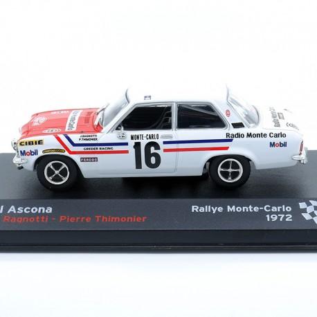 Opel Ascona - Rallye Monte Carlo 1972 - 1/43ème en boite