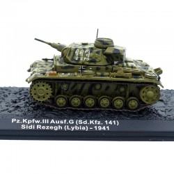 Tank Pz.Kpfw III Ausf G - Lybie 1941 - 1/72ème en boite