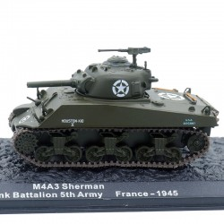 Tank M4A3 Sherman - France 1945 - 1/72ème en boite