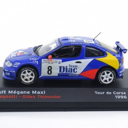 Renault Mégane Maxi - Tour de Corse 1996 - 1/43ème en boite