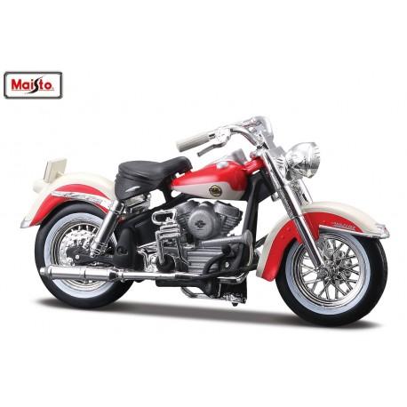 Harley Davidson 1958 FLH Duo Glide - Maisto - 1/18eme sous blister