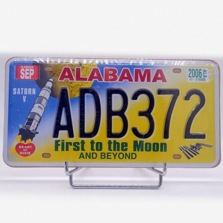 "Reproduction plaque immatriculation Americaine ""Alabama"""