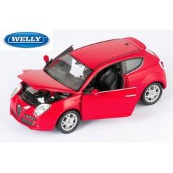Alfa Roméo Mito - 1/24eme en métal fabriqué par Welly