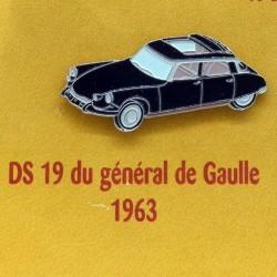 Pin's Citroen DS 19 du Général de Gaulle 1963