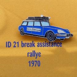 Pin's Citroen ID 21 Break Assistance Rallye 1970