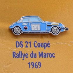 Pin's Citroen DS 21 Coupé - Rallye du Maroc 1969