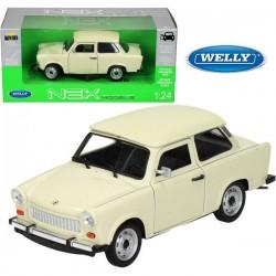 Trabant 601 Beige - 1/24eme en métal fabriqué par Welly