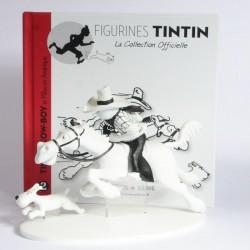 Figurine Tintin en résine Hors Série - Tintin CowBoy n°2 - avec livret et certificat