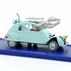 la 2cv Emboutie de Tintin...