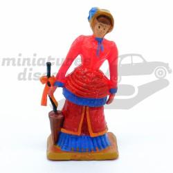Femme avec son parapluie -...
