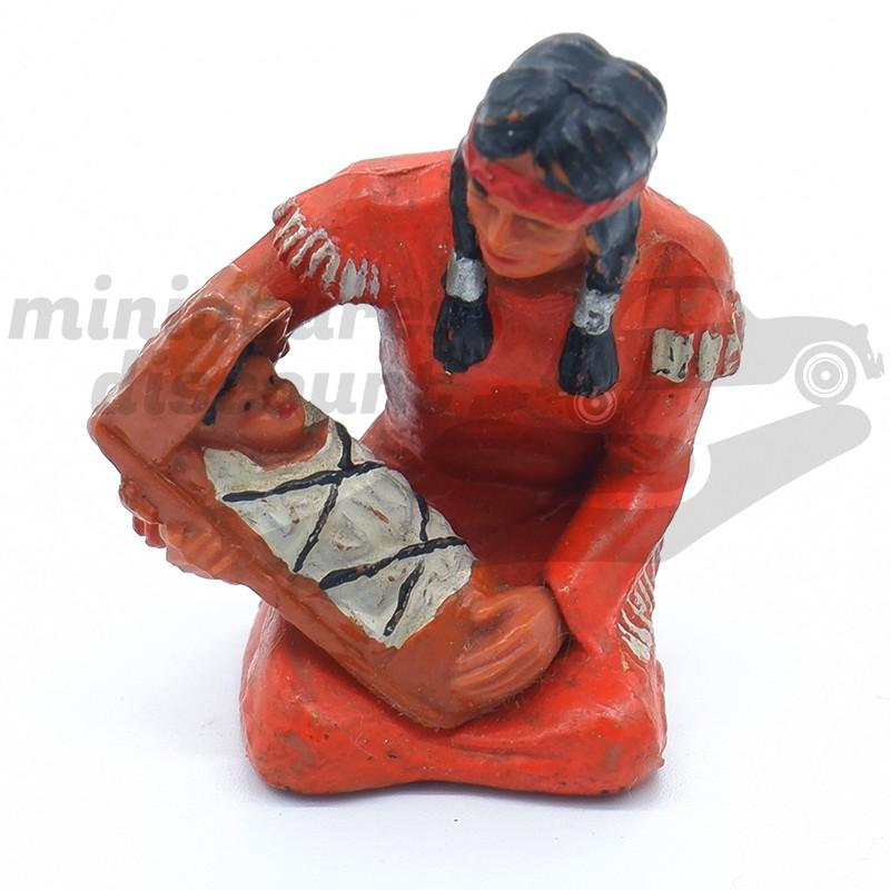 Figurine Femme Indienne Avec Enfant