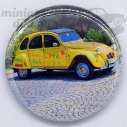 Citroen 2cv jaune - Magnet...