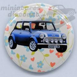 Mini Cooper bleu (Fond...