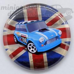 Mini Cooper bleu (Drapeau...