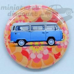 Volkswagen Combi bleu (fond...